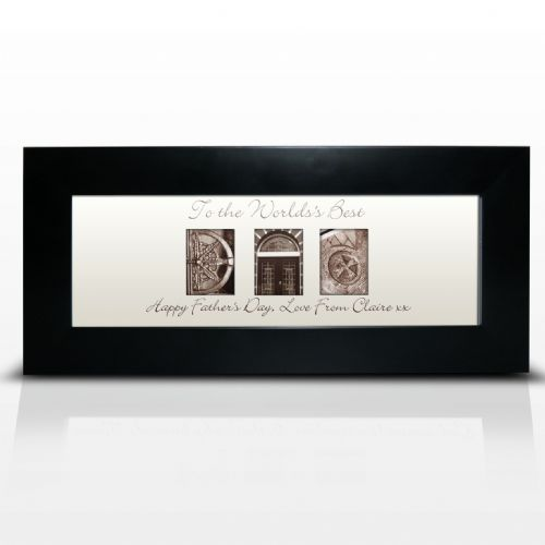 Personalised Affection Art Dad Small Frame